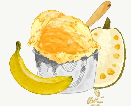Banana Oat / Jackfruit